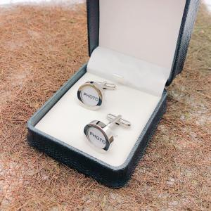 Stainless steel photo frame cufflnks